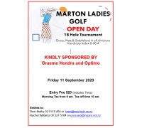 Marton Ladies 18 Hole Golf Open Day